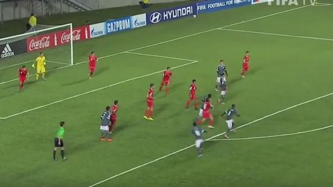 Backed by most of the crowd, Syria pushed forward after the halftime break with a tactical change to a more orthodox 4-4-2. (Photo courtesy: Youtube/FIFA TV)