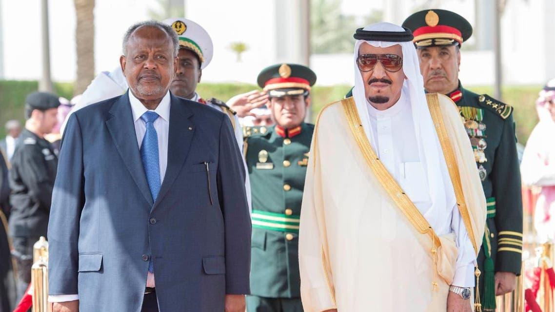 خادم الحرمين مع رئيس جيبوتي