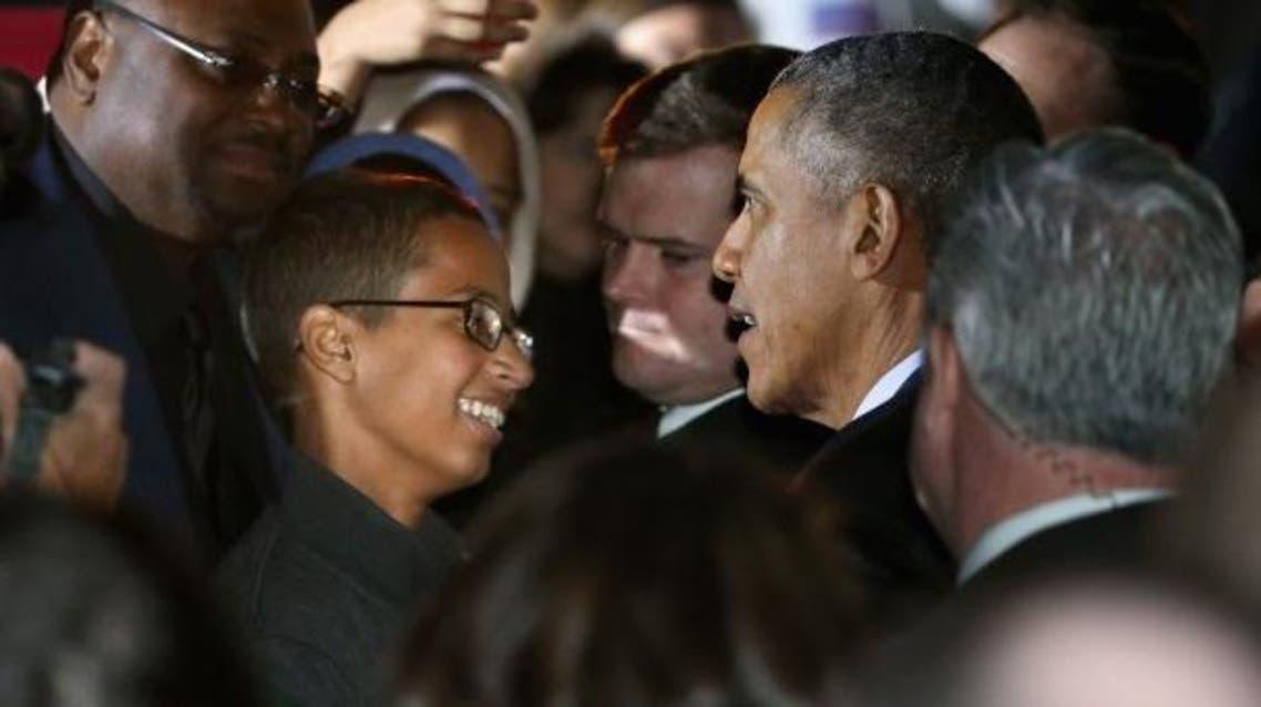 الطفل العبقري أحمد محمد مع اوباما