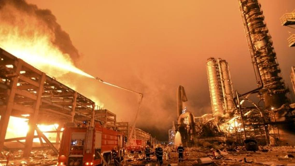 الصين انفجار مصنع كيماوي