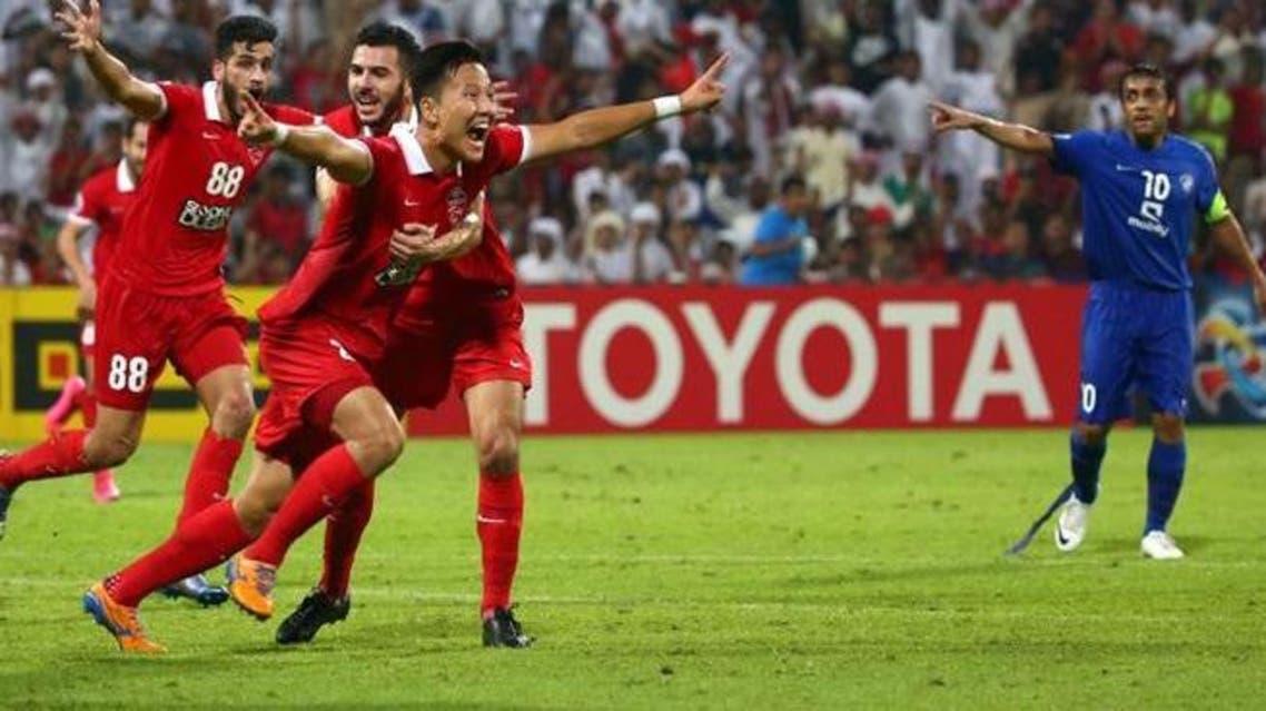 Kwon Kyung-won's injury-time winner stuns Al Hilal. (AFP)