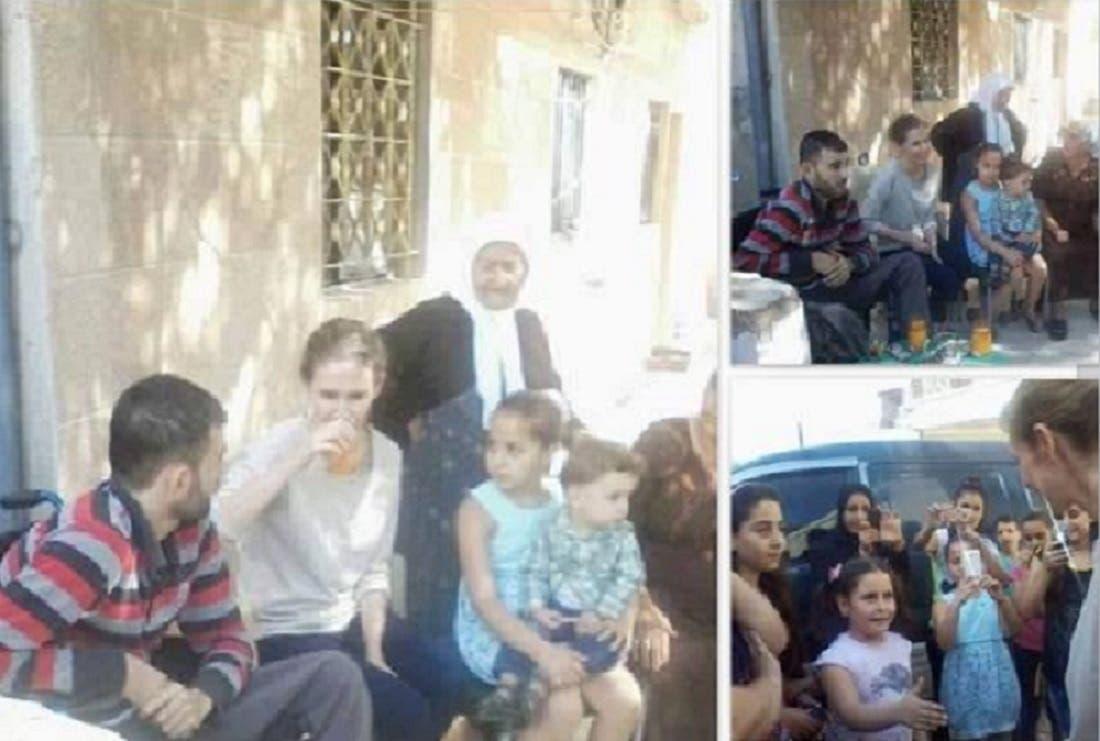 أسماء الأسد في اللاذقية بعد استياء أنصار النظام من ارتفاع عدد قتلاهم  بعد التدخل الروسي
