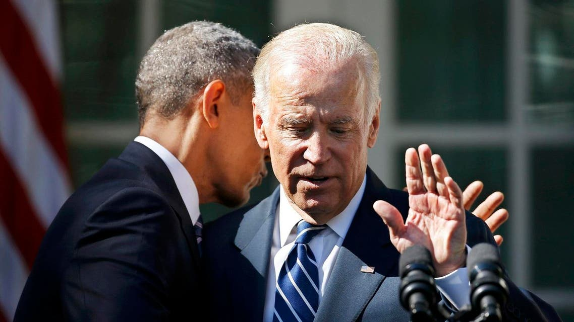 U.S. President Obama hugs Vice President Biden after Biden announced he will not seek the 2016 Democratic presidential nomination during an appearance at the White House. (Reuters)