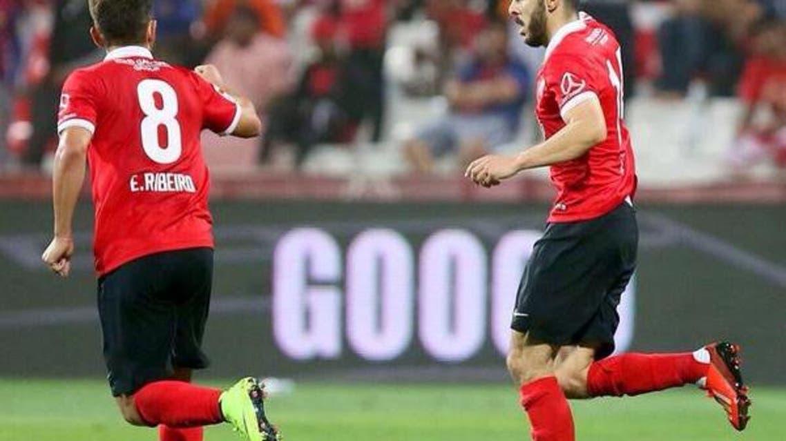 اللاعب المغربي  أسامة السعيدي لاعب أهلي دبي