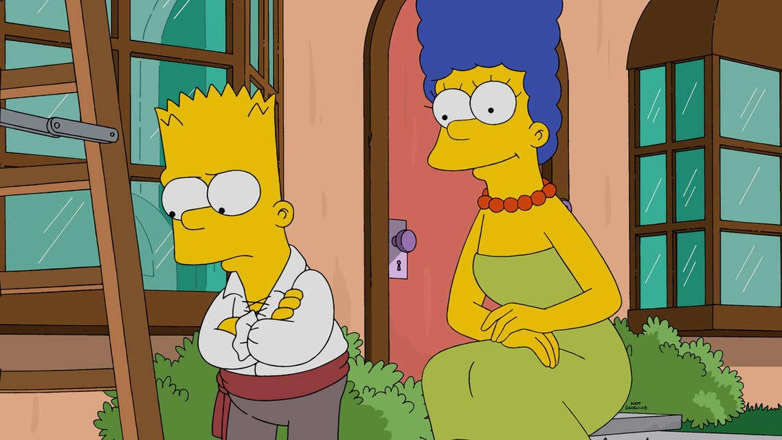 In this photo provided by FOX, Marge, right, promises to make Halloween fun for Bart, left, in the all-new 'Halloween Horror' episode of 'The Simpsons,' that aired Sunday, Oct. 18, 2015. (AP)
