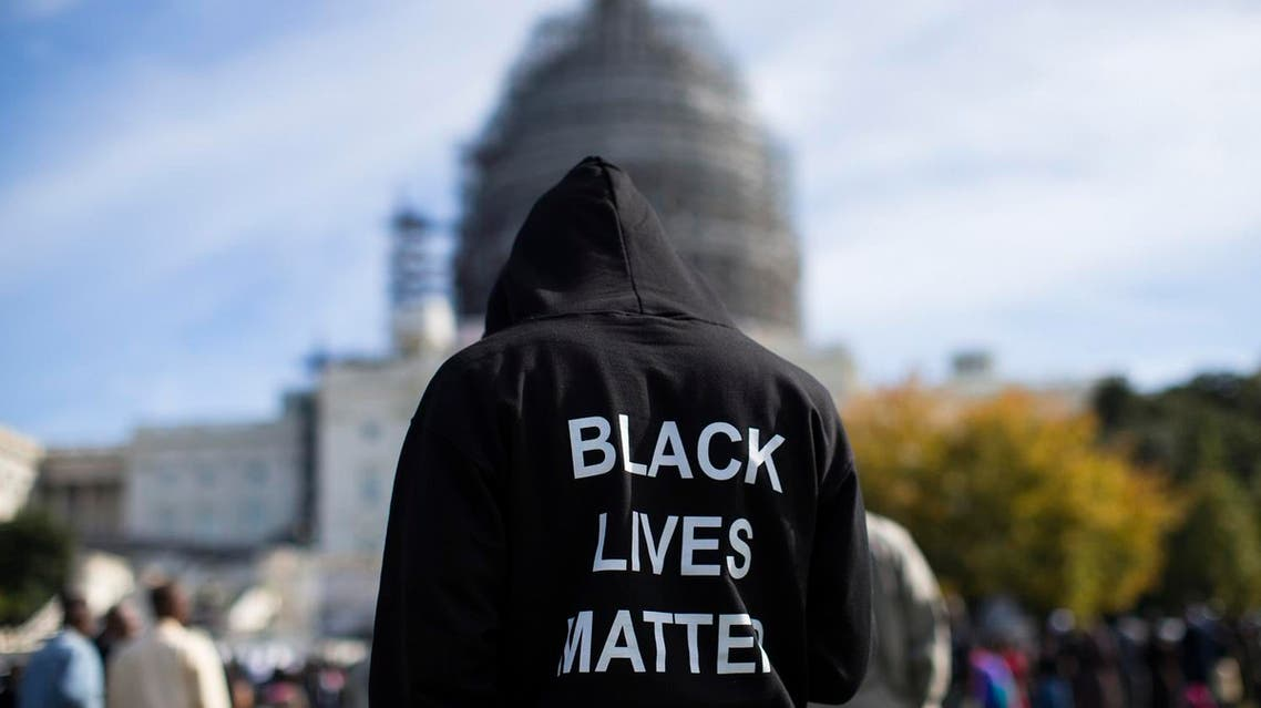 Neal Blair, of Augusta, Ga., wears a hoodie which reads, Black Lives Matter as stands on the lawn of the Capitol building during a rally. (File photo: AP)