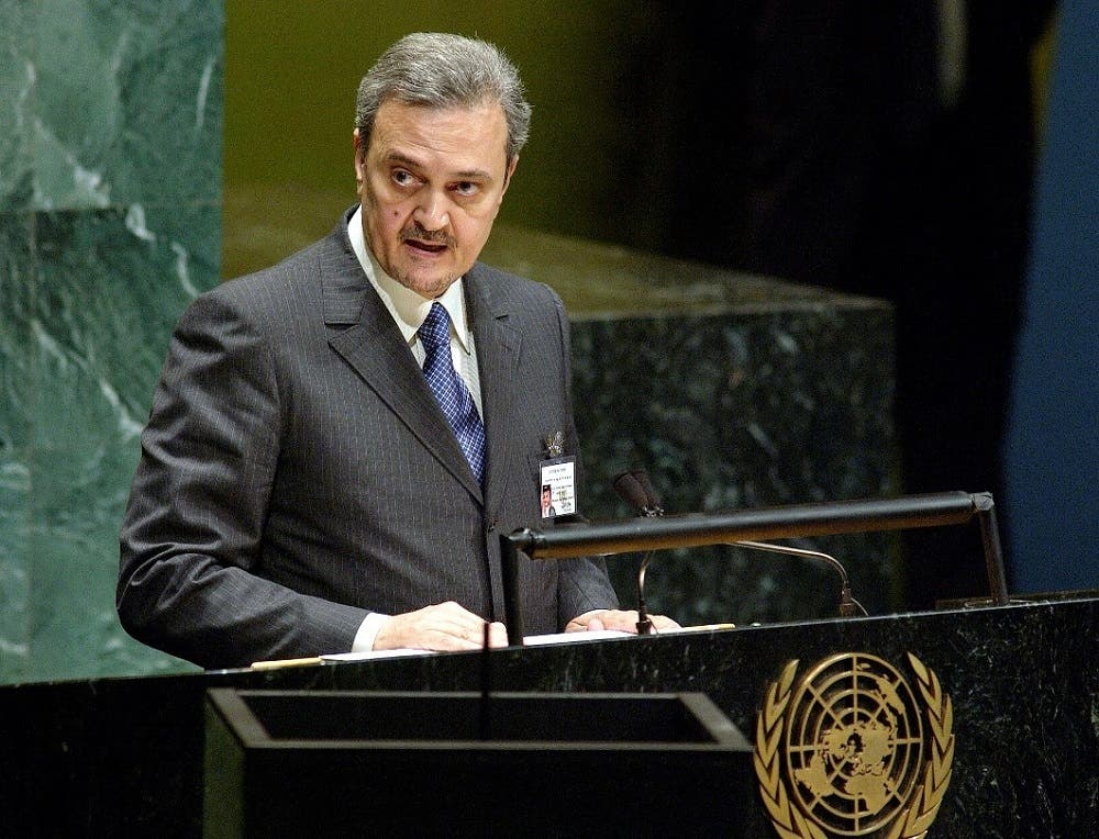 Prince Saud Al-Faisal, Minister for Foreign Affairs of Saudi Arabia, addresses the fifty-eighth session of the General Assembly, in September 2003