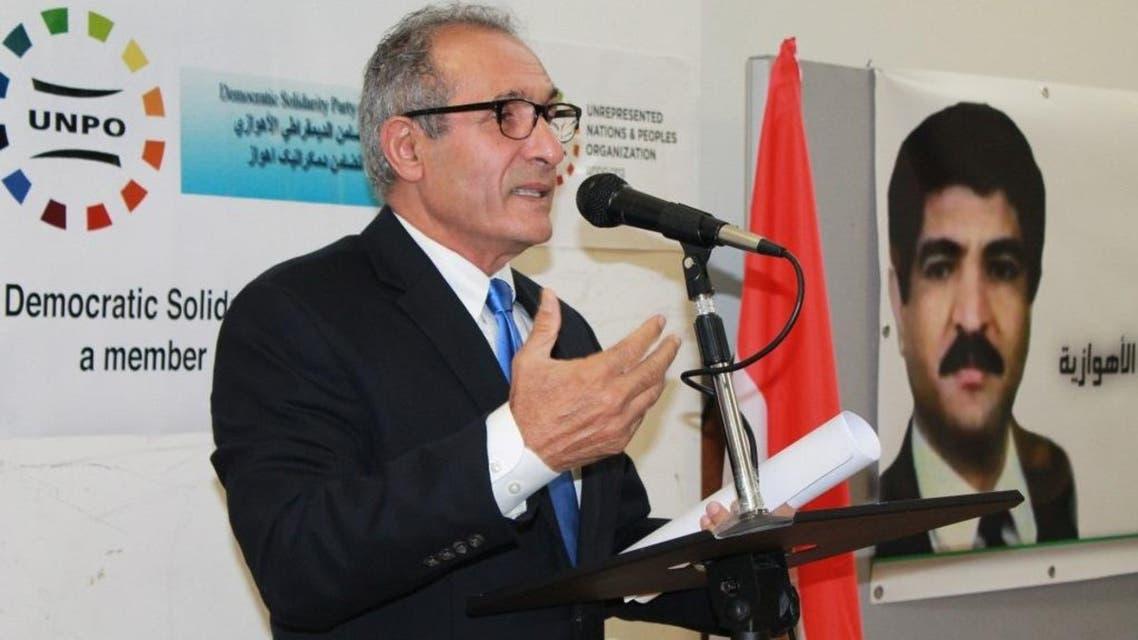 الدكتور كريم عبديان بني سعيد الكبير مستشار الأعلى لحزب التضامن الديمقراطي الأهوازي
