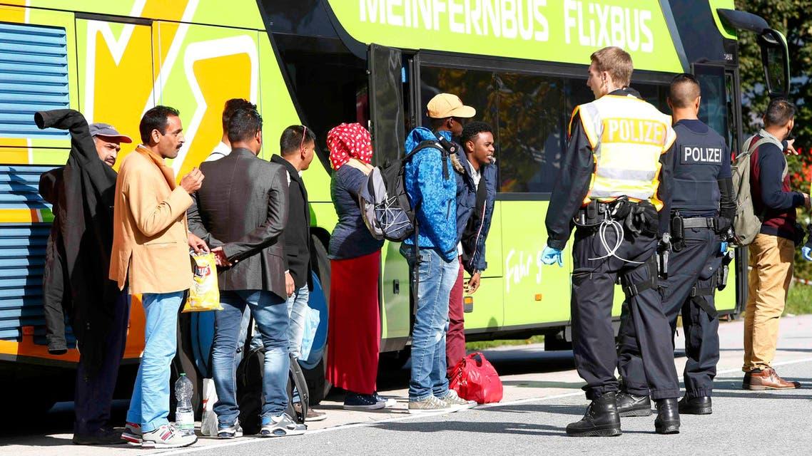 المانيا مهاجرين مهاجرون هجرة لجوء لاجئين لاجئون