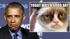 Republicans? They're like the Grumpy Cat meme, Obama says