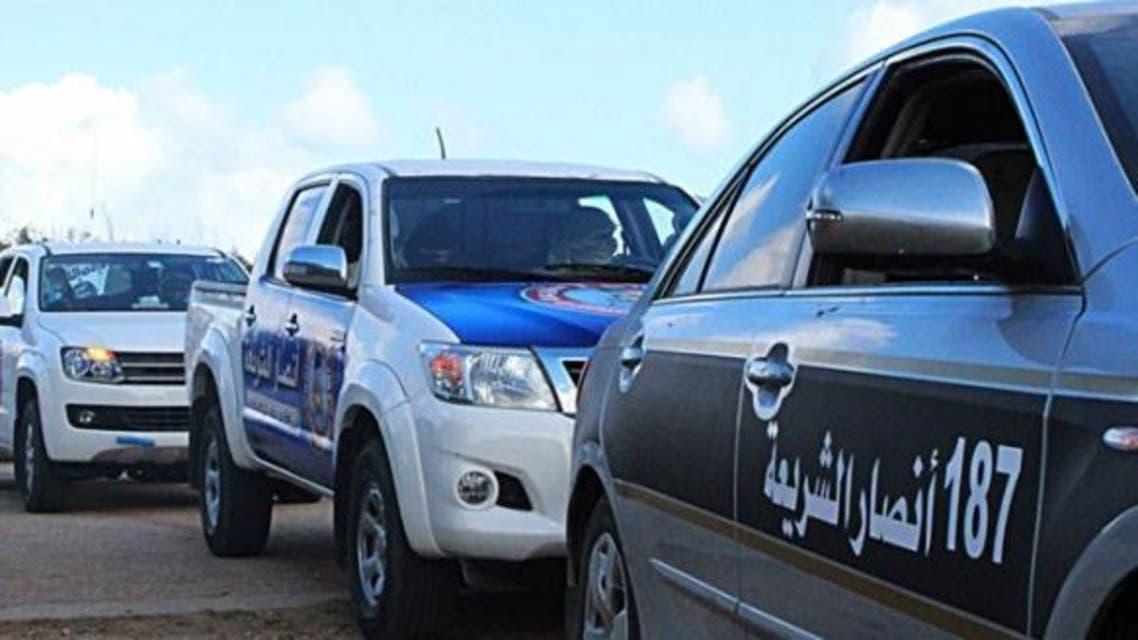 سيارات عناصر أنصار الشريعة في ليبيا - أرشيفية