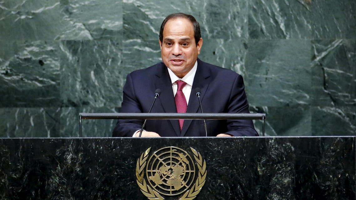 President of Egypt Abdel Fattah el-Sisi addresses addresses attendees during the 70th session of the United Nations General Assembly at the U.N. headquarters in New York, September 28, 2015. (Reuters)