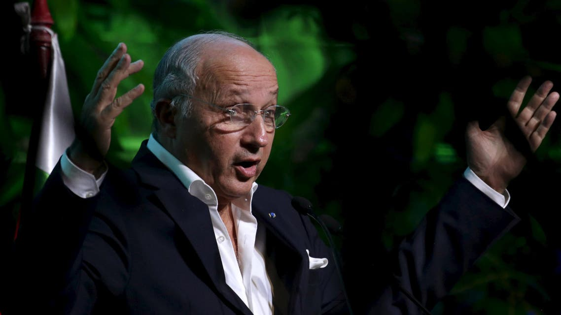France's Foreign Minister Laurent Fabius speaks during a summit in Tiquipaya, Bolivia, October 10, 2015. (Reuters)