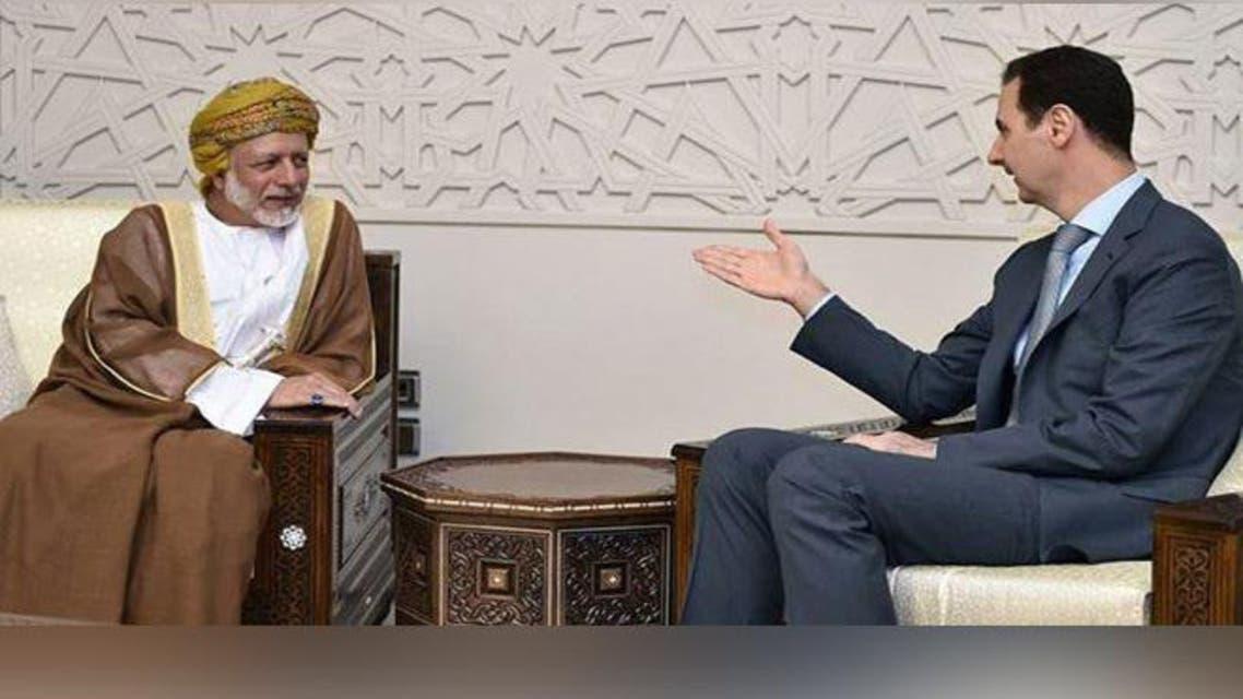 الأسد يلتقي بوزير خارجية عمان