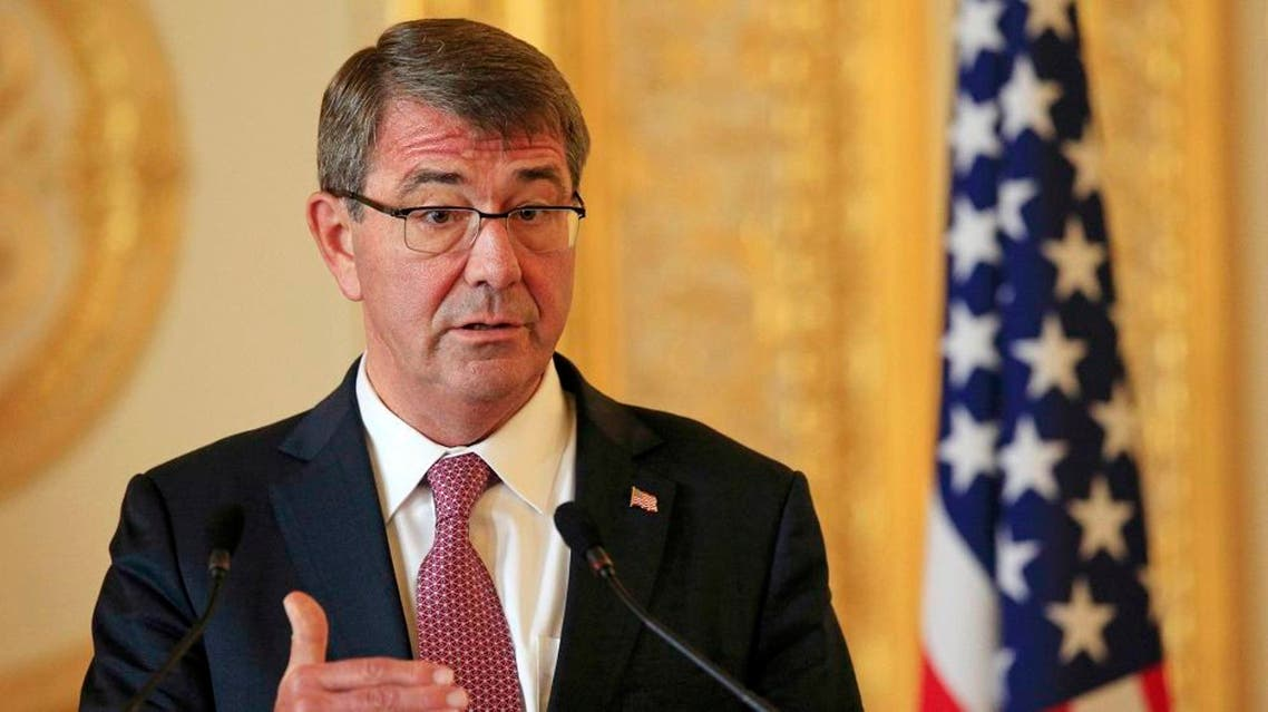 U.S. Defence Secretary Ashton Carter speaks during a news conference with his British counterpart Michael Fallon at Lancaster House in London, Britain October 9, 2015. REUTERS