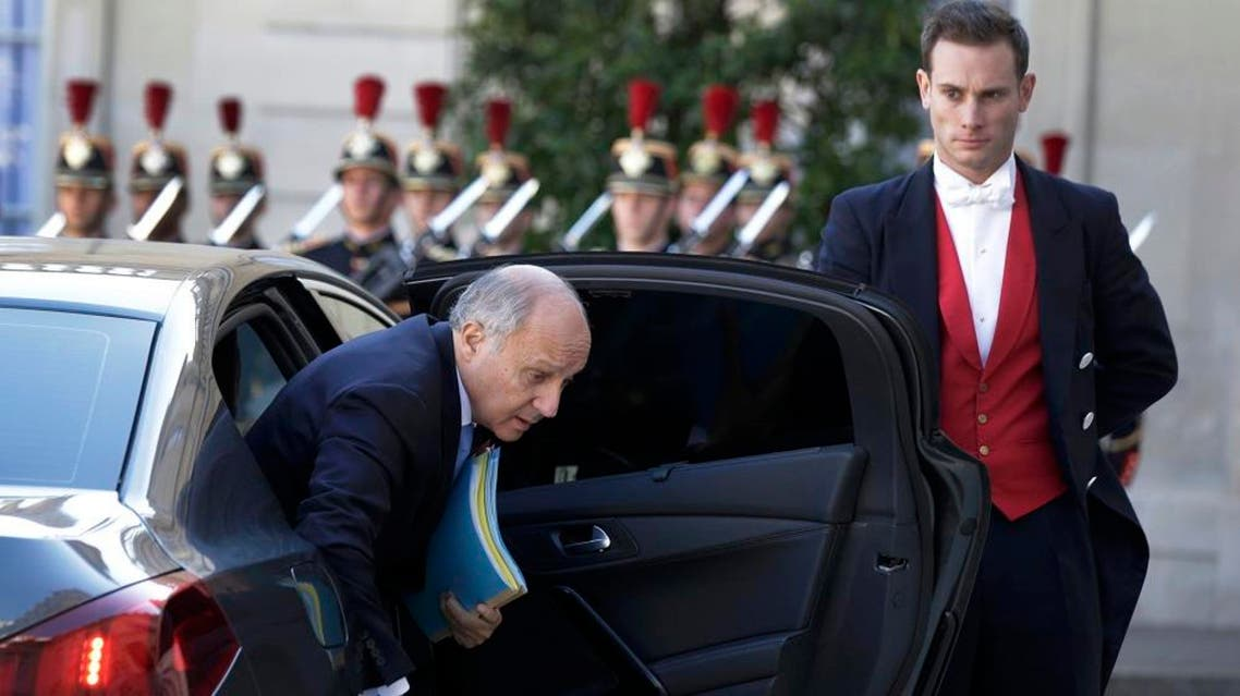 France's Foreign Minister Laurent Fabius arrives to attend a summit to discuss the conflict in Ukraine at the Elysee Palace in Paris, France, October 2, 2015. REUTERS