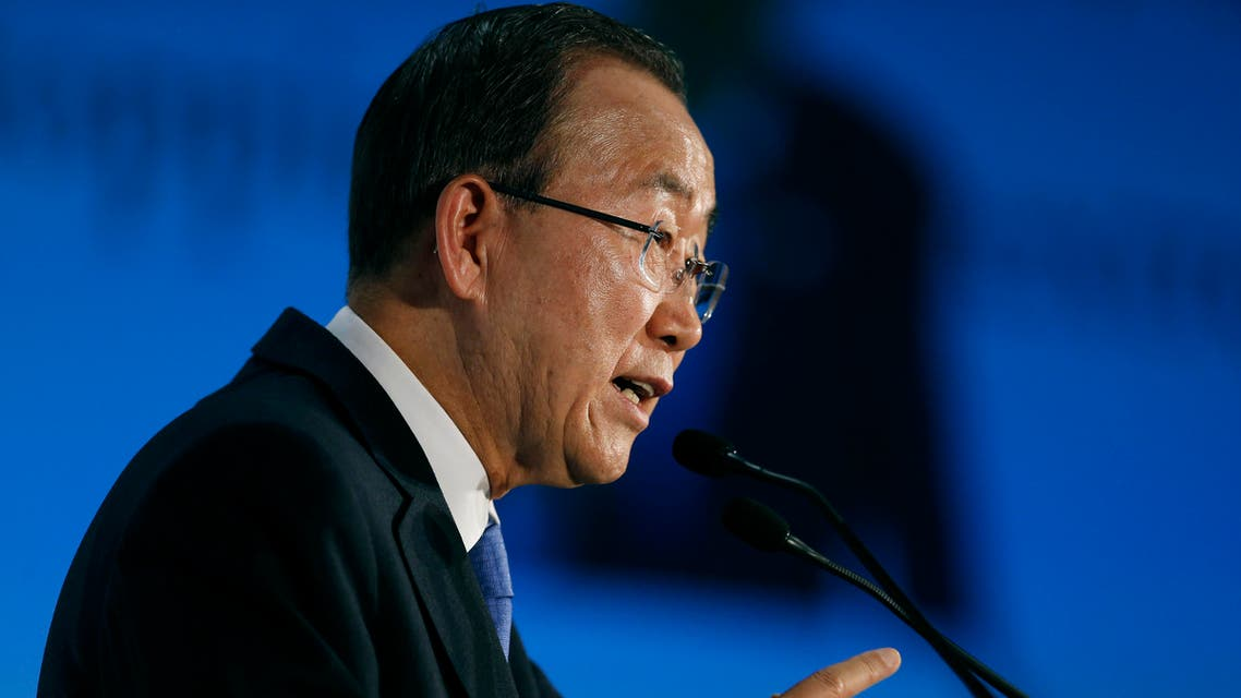United Nations Secretary-General Ban Ki-moon gives a speech during a conference about violent extremism, in Madrid, Wednesday, Oct. 28, 2015. Ban Ki-moon is on an official visit in Spain. (AP)