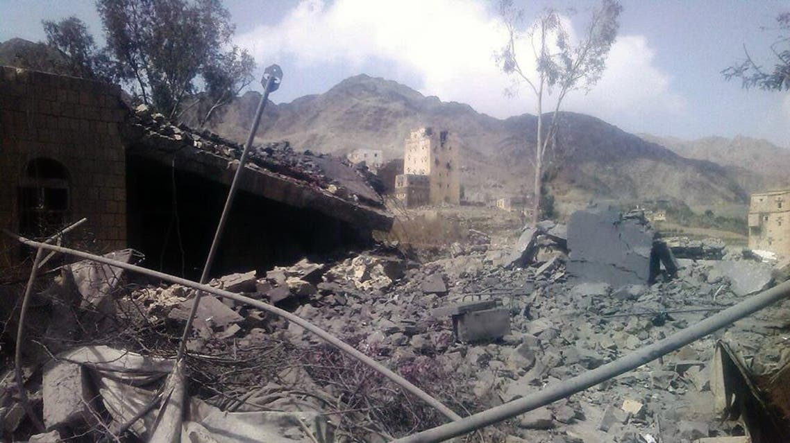 This image taken on Oct. 27, 2015 and released by Médecins Sans Frontières, shows the aftermath of an airstrike on a hospital in Saada province, Yemen.
