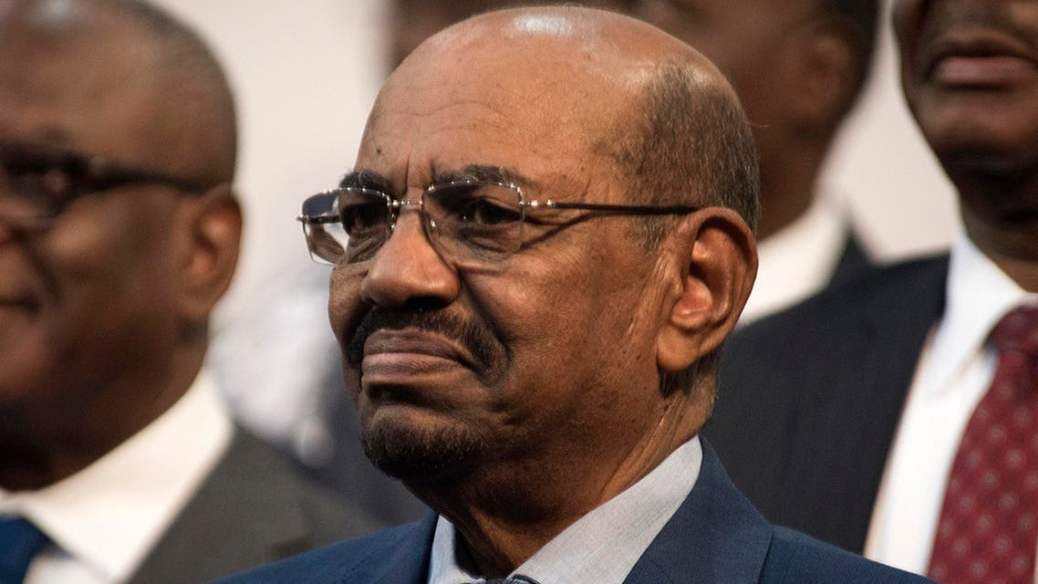 Sudanese President Omar al-Bashir is seen during the opening session of the AU summit in Johannesburg, Sunday, June 14, 2015.