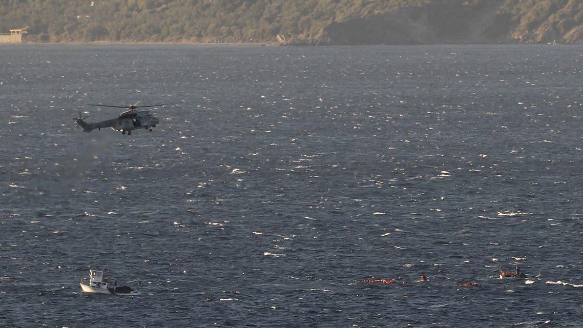 من عمليات الإنقاذ شمالي جزيرة ليسبوس