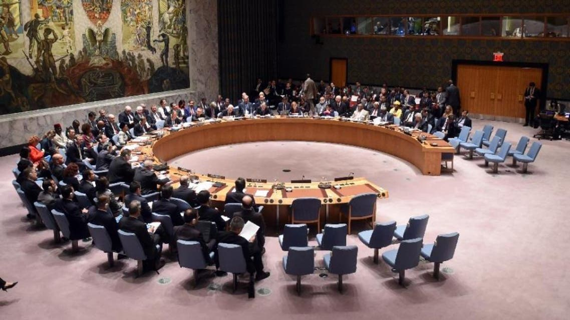 A UN Security Council meeting on settlement of conflicts in the Middle East and North Africa on September 30, 2015 in New York (AFP)