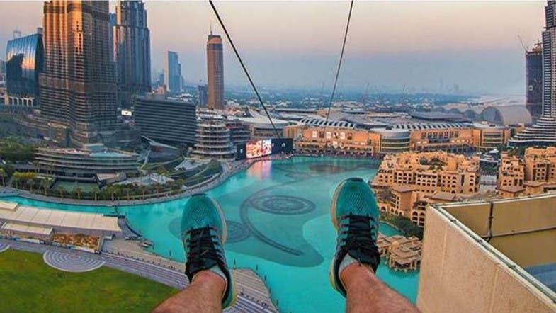 Feeling adventurous? Try a Zip line over the Dubai Fountain - Al ...