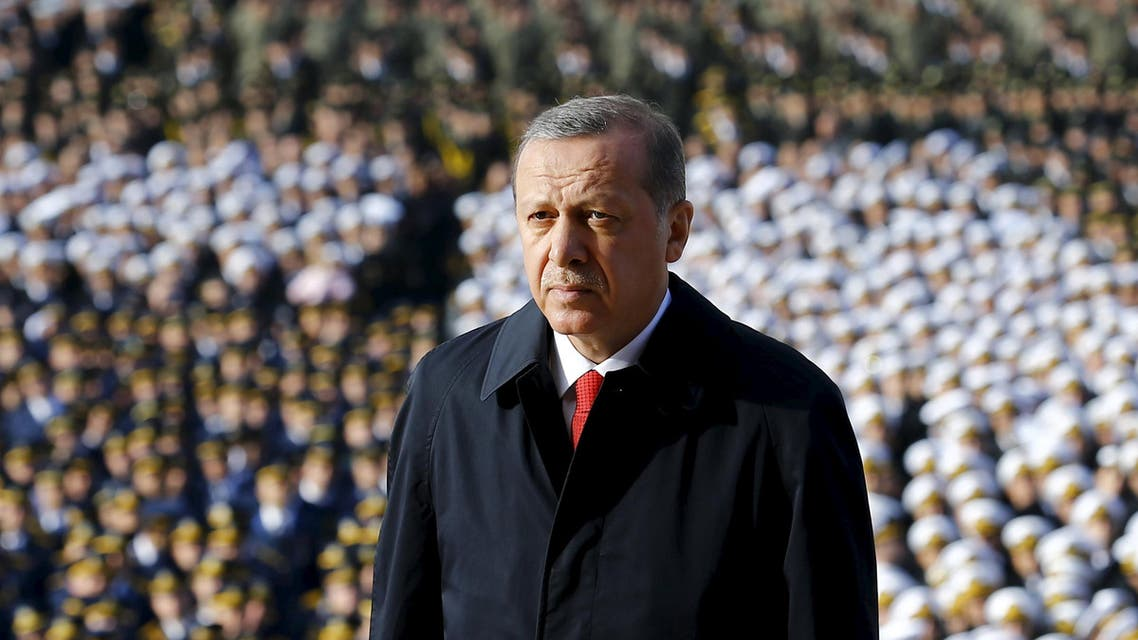 Turkey's President Tayyip Erdogan attends a Republic Day ceremony at Anitkabir, the mausoleum of modern Turkey's founder Ataturk, in Ankara, Turkey, October 29, 2015. (Reuters)