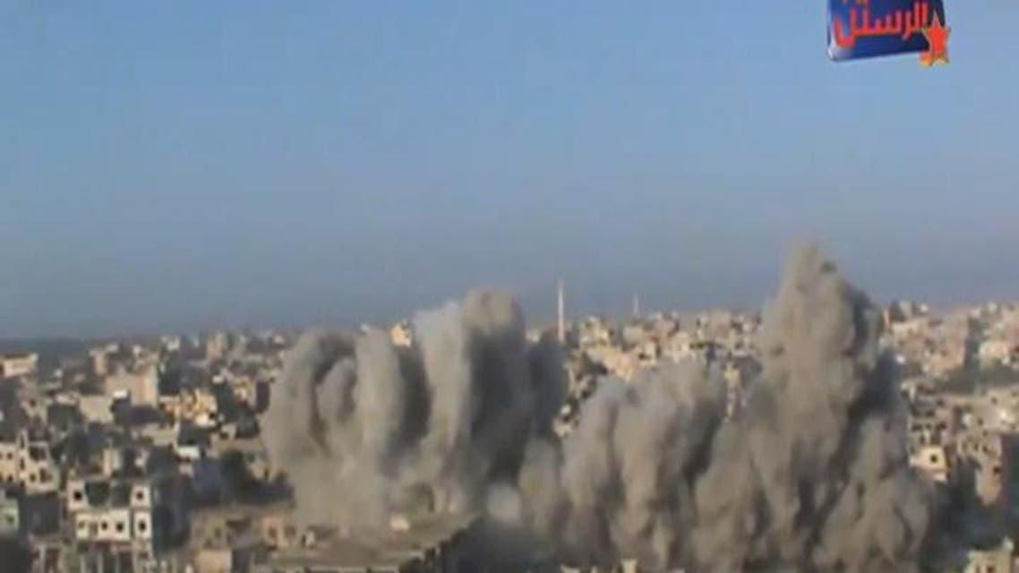 THUMBNAIL_ الطيران الروسي يجدد غاراته على حمص وسقوط جرحى مدنيين