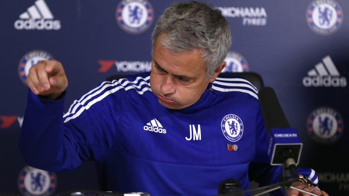 Chelsea manager Jose Mourinho during a press conference this week. (Reuters)