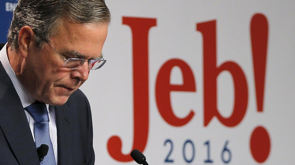 U.S. Republican presidential candidate Jeb Bush speaks about healthcare reform at the New Hampshire Institute of Politics at Saint Anselm College in Manchester, New Hampshire. (Reuters)