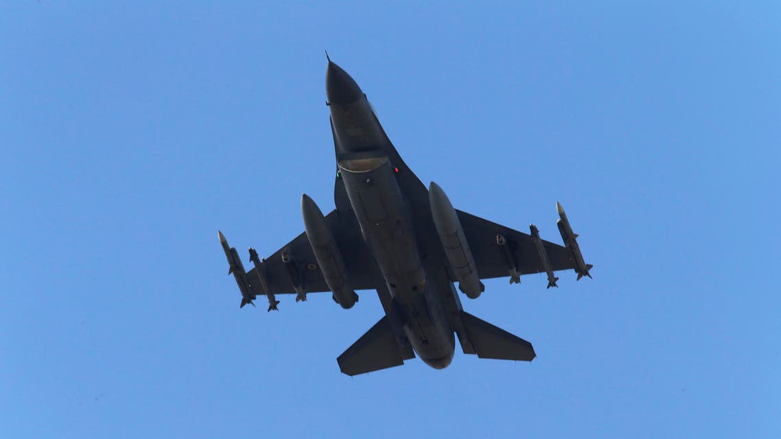 FILE - in this Wednesday, July 29, 2015 file photo, a missile-loaded Turkish Air Force warplane rises in the sky after taking off from Incirlik Air Base, in Adana, southern Turkey. The killing of two police officers by alleged Kurdish rebels prompted the Turkish government to retaliate against the Kurdistan Workers Party, PKK, with airstrikes to strongholds which stretch from southeastern Turkey to northern Iraq. In an abrupt reversal, Turkey and the Kurdish rebels appear to be hurtling toward the return of an all-out conflict that plagued the nation for decades, before a fragile peace process was launched in 2012. (AP Photo/Emrah Gurel, file)
