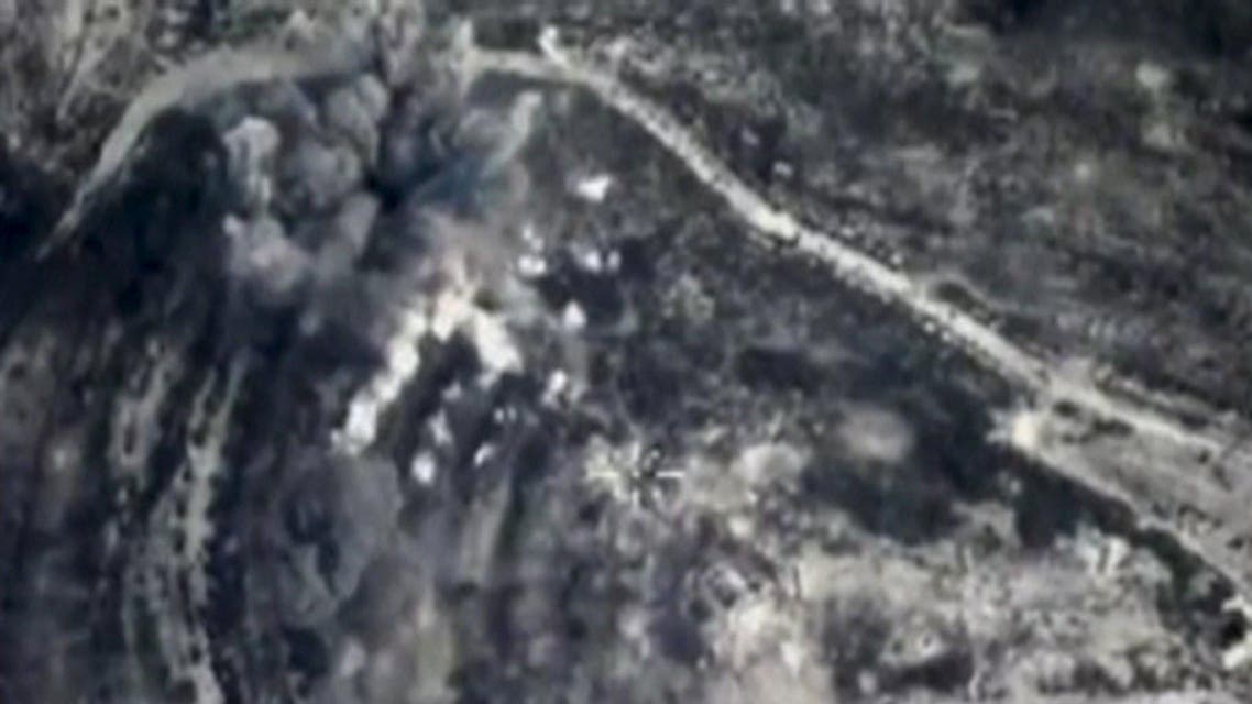 A frame grab taken from a footage released by Russia's Defence Ministry shows smoke caused by airstrikes carried out by the country's air force at an unknown location in Syria, October 26, 2015. REUTERS/Ministry of Defence of the Russian Federation/Handout via Reuters ATTENTION EDITORS - THIS IMAGE WAS PROVIDED BY A THIRD PARTY. REUTERS IS UNABLE TO INDEPENDENTLY VERIFY THE AUTHENTICITY, CONTENT, LOCATION OR DATE OF THIS IMAGE. IT IS DISTRIBUTED EXACTLY AS RECEIVED BY REUTERS, AS A SERVICE TO CLIENTS. FOR EDITORIAL USE ONLY. NOT FOR SALE FOR MARKETING OR ADVERTISING CAMPAIGNS. NO RESALES. NO ARCHIVE.