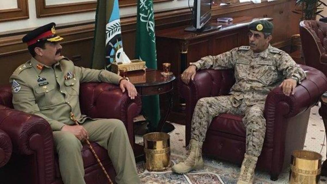 Pakistan Army Chief meeting with CGS Royal Saudi Forces