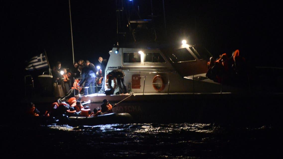 اليونان - قوارب - لاجئون