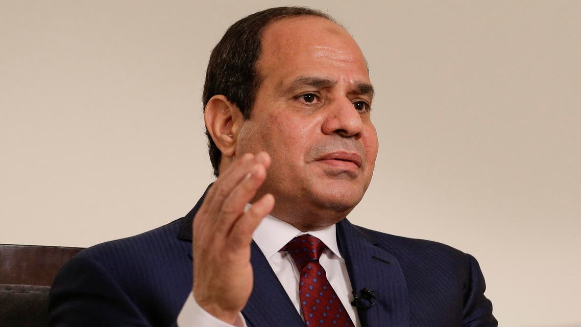 Sisi has said tough security measures were needed to protect Egypt from what he describes as terrorist attacks by militants. AP