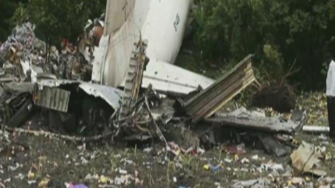 THUMBNAIL_ الصور الاولى لتحطم طائرة الشحن الروسية بجنوب السودان