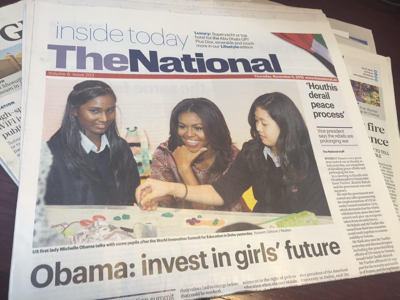 First Lady Michelle Obama won praise by local Arab media praise, not so much from back home. (Al Arabiya)