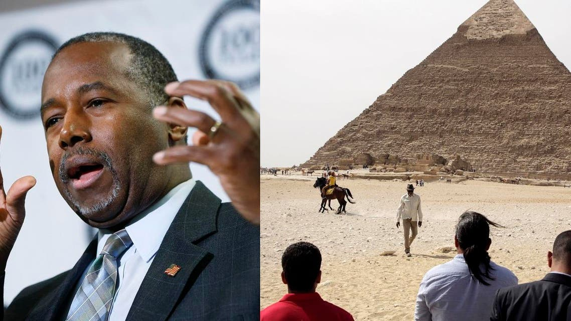 """My own personal theory is that Joseph built the pyramids to store grain,"" Carson said. (AP)"