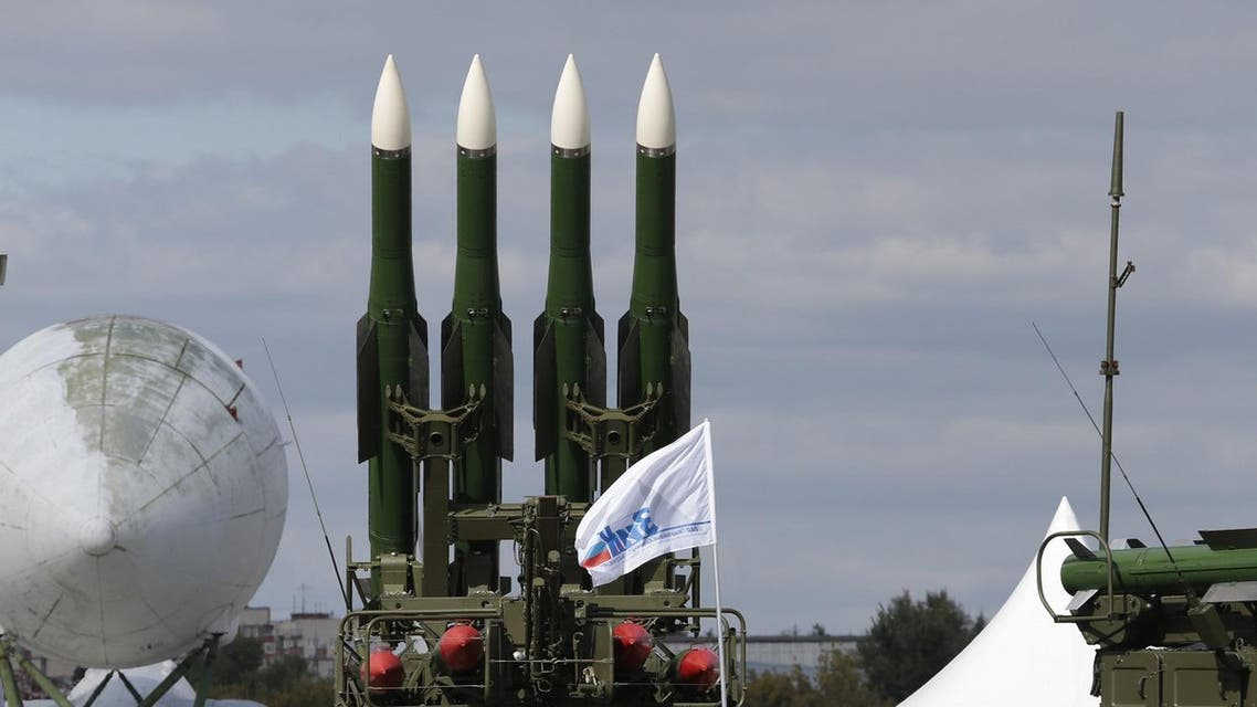 FILE - In this Tuesday, Aug. 27, 2013 file photo, a Russian air defense missile system SA-11 launcher is on display at the opening of the MAKS Air Show in Zhukovsky outside Moscow. (AP)