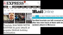 British media warn against visiting Morocco after attack on tourists