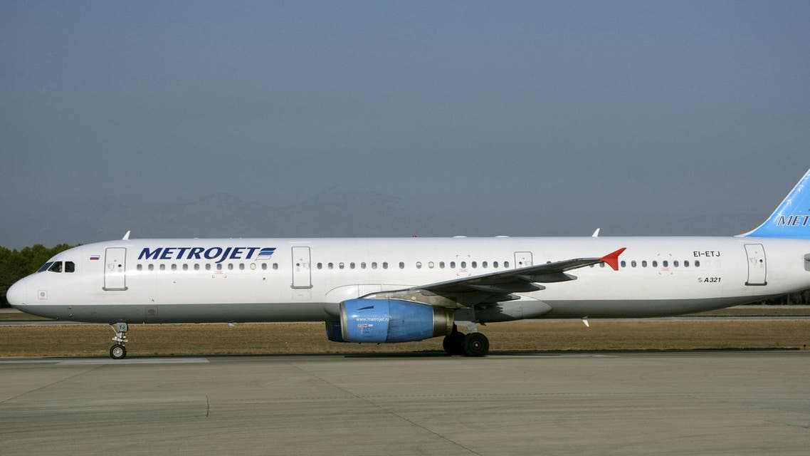 The Metrojet's Airbus A-321 with registration number EI-ETJ that crashed in Egypt's Sinai peninsula, is seen in this picture taken in Antalya, Turkey September 17, 2015. The Russian airliner carrying 224 passengers and crew crashed in Egypt's Sinai peninsula on October 31, 2015, the Egyptian civil aviation authority said, and a security officer who arrived on the scene said all aboard the plane were probably dead. The Airbus A-321, operated by Russian airline Kogalymavia with the flight number 7K9268, was flying from the Sinai Red Sea resort of Sharm el-Sheikh to St Petersburg in Russia when it went down in a desolate mountainous area of central Sinai soon after daybreak, the aviation ministry said. Picture taken September 17, 2015. REUTERS/Kim Philipp Piskol TPX IMAGES OF THE DAY