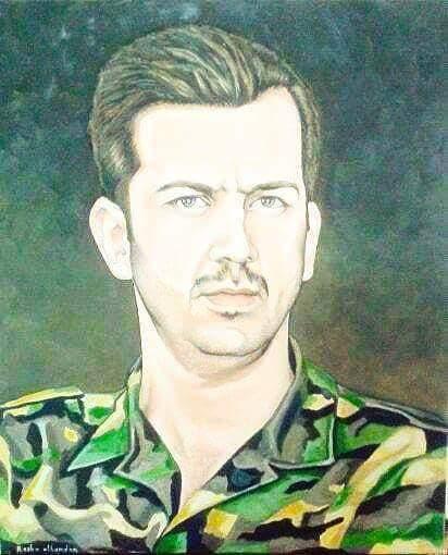 لوحة لماهر الأسد لرسامة موالية  تم نشرها منذ 3 أيام