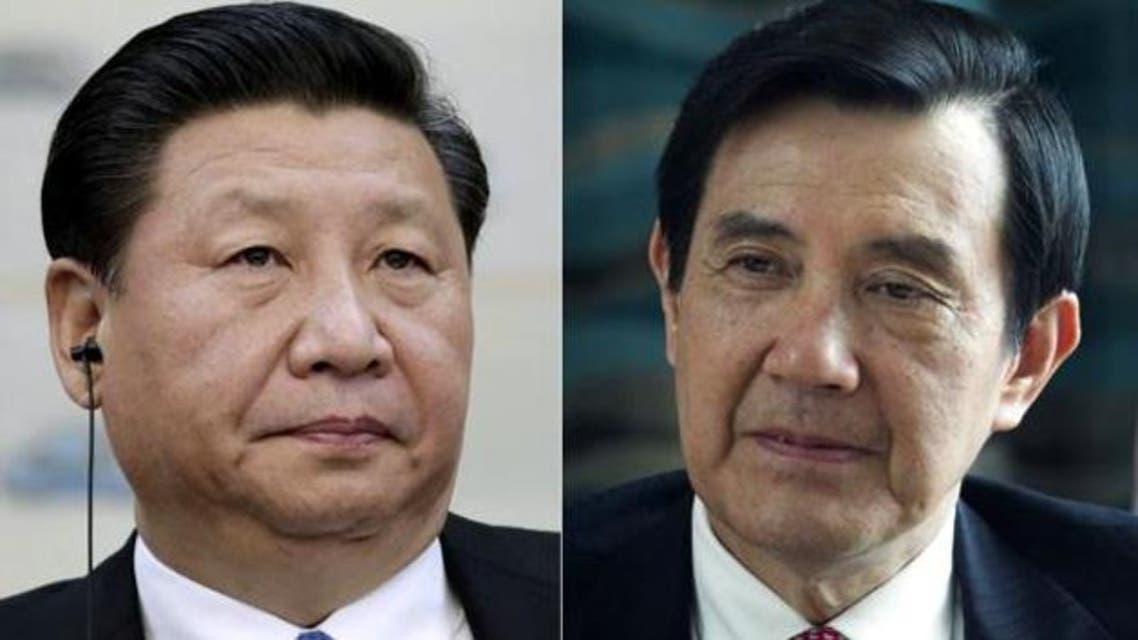 الرئيس التايواني ما ينغ جيو و الرئيس الصيني شي جين بينغ