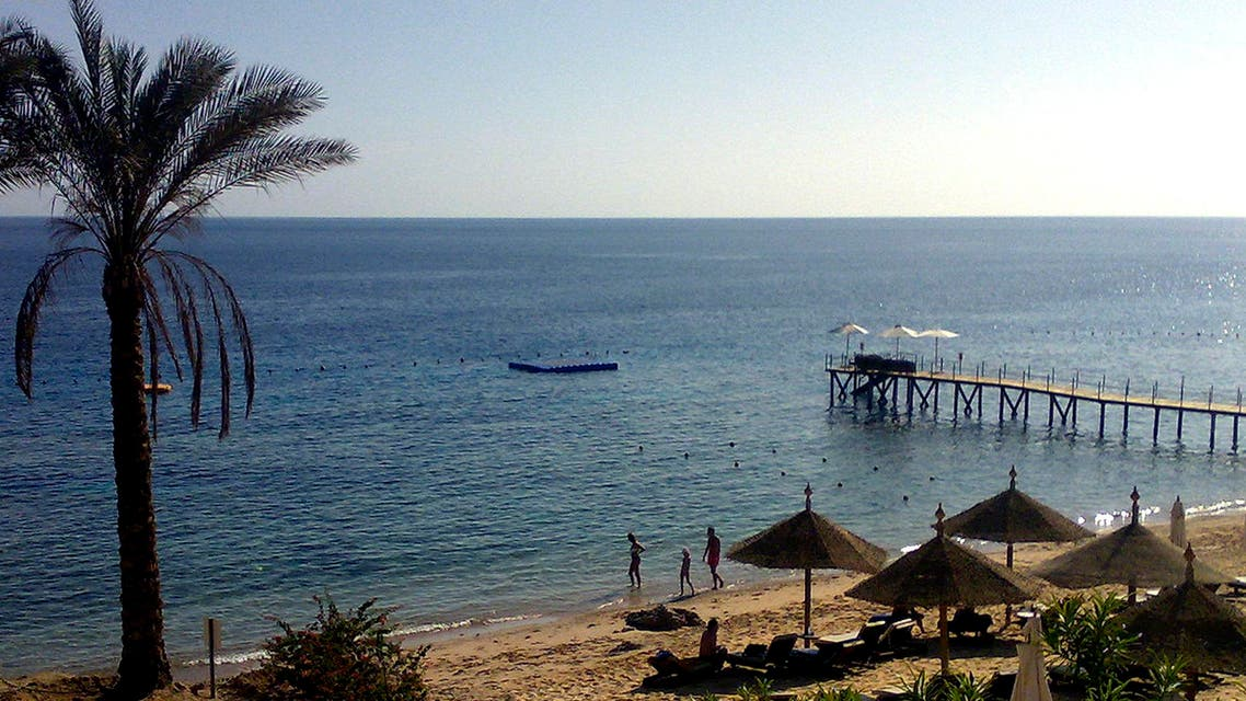General view showing an empty beach at the Red Sea resort of Sharm el Sheik, Egypt, Sunday, Dec.5, 2010. AP