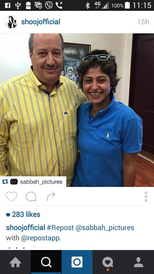 شجون مع عامر صباح على موقعها على انستغرام