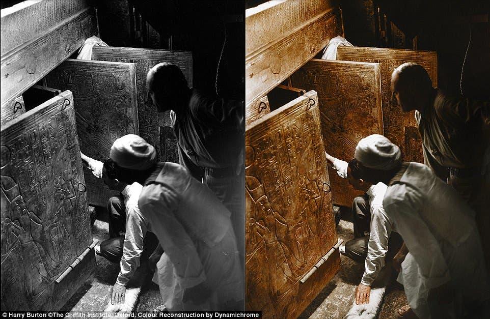 كارتر وأحد العمال المصريين