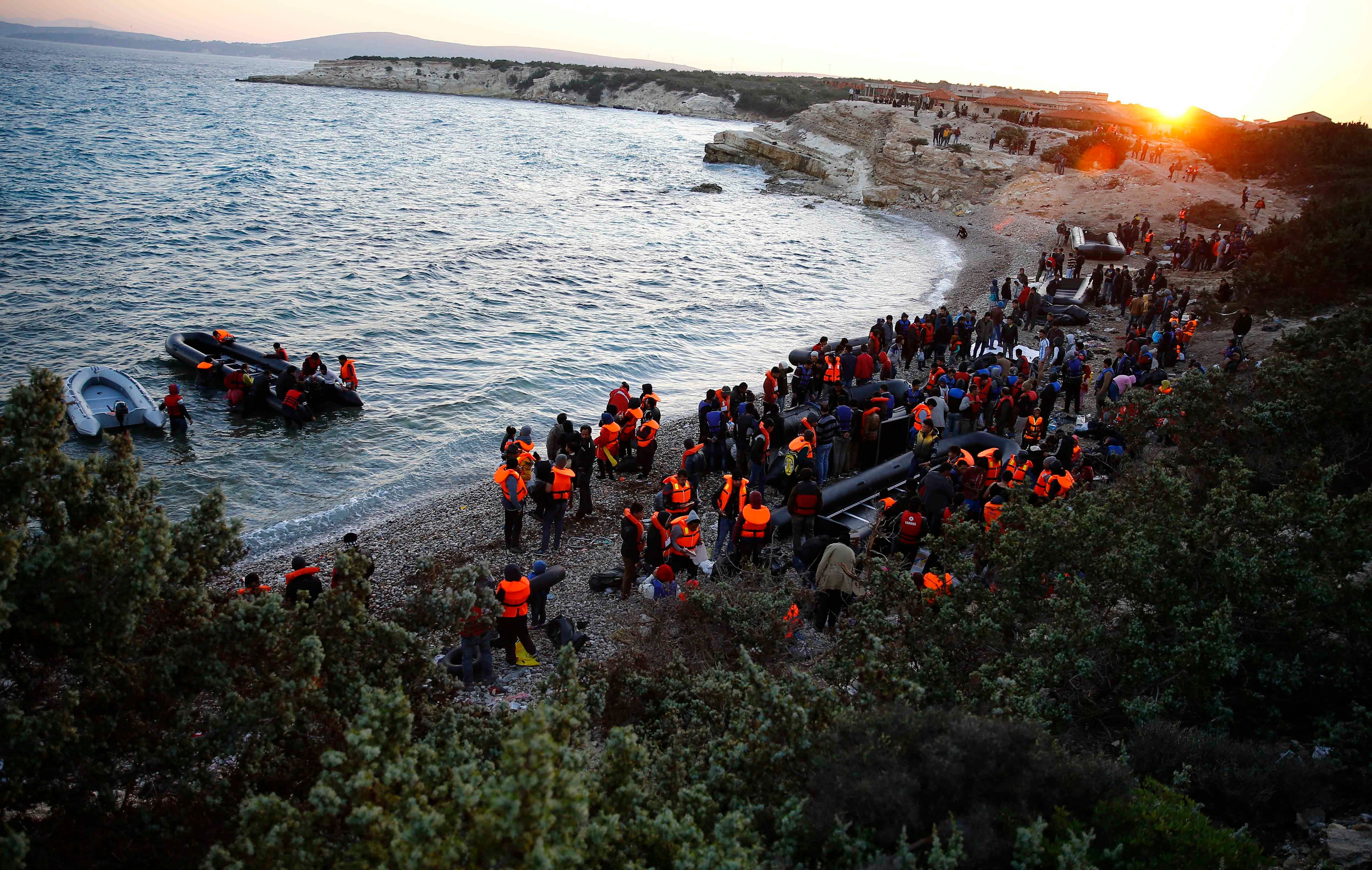 Wading into the Aegean Sea