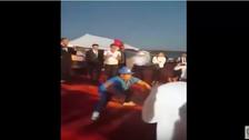 Maradona shows off dance moves in Western Sahara