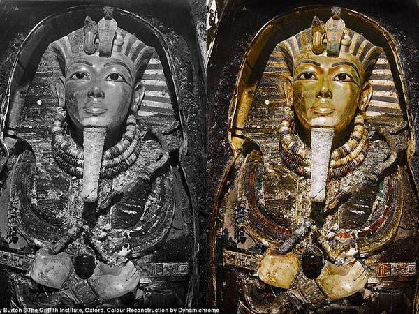 بالصور.. شاهد توت عنخ آمون ومقبرته بالألوان لأول مرة