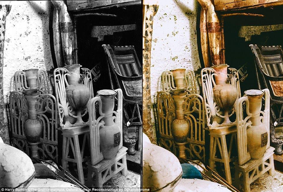 المقتنيات المكتشفة داخل مقبرة توت عنخ آمون